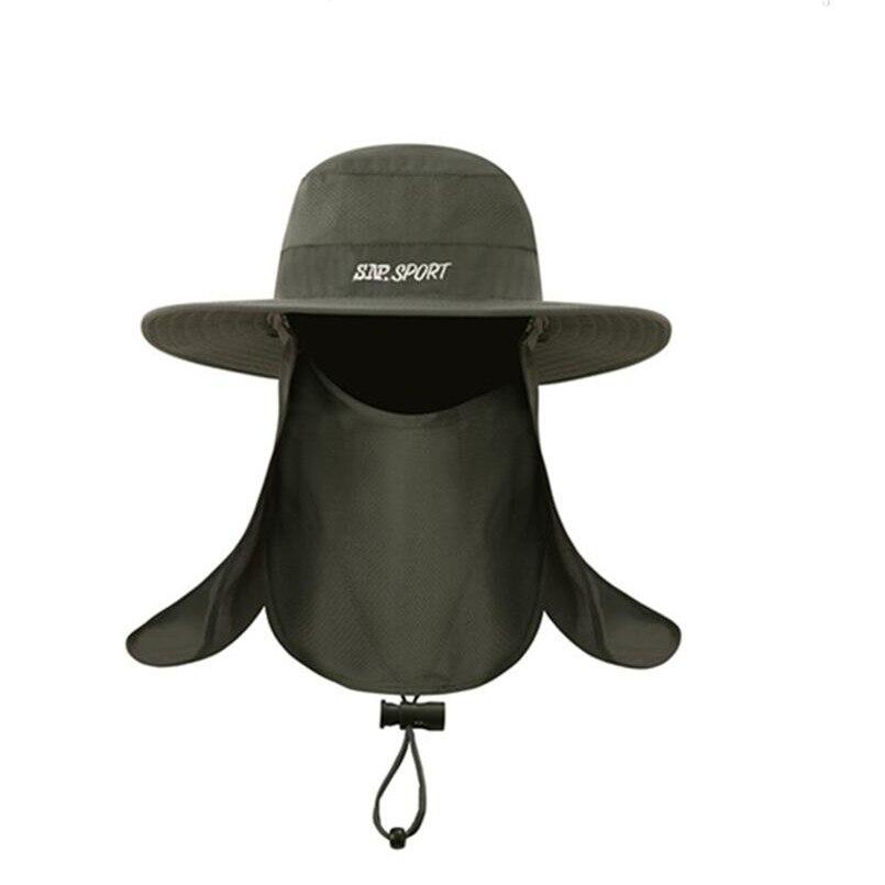 a04a479fd74 Men s Summer Bucket Hats Fishing Wide Brim Hat UV Protection Cap Men Hiking  Sombrero Gorro Hats