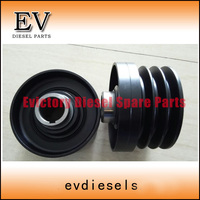 For Hiatch Excavator+genset 4BG1 4BG1T pulley crankshaft pulley 3 groove made in Japan type 8971720400|pulley crankshaft|pulleys typespulley v -