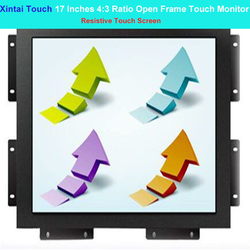 Xintai Touch 17 Inches 4:3 Ratio Capacitive Touch Screen Industrial Open Frame Touch Monitor Resolution (1280*1024)
