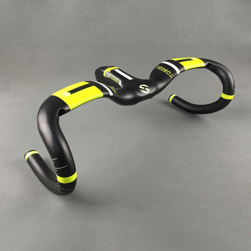 Último manillar de carbono de elevación de una curva Mtb Road Handlebar UD Ultra ligero 400/420/440mm bicicleta manillar bicicleta accesorios