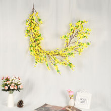 Simulation Wreath Of Winter Garland Decoration Spring Home Wreath Door Hanging Holiday Ornaments Simulation Rattan Wall Hanging(China)