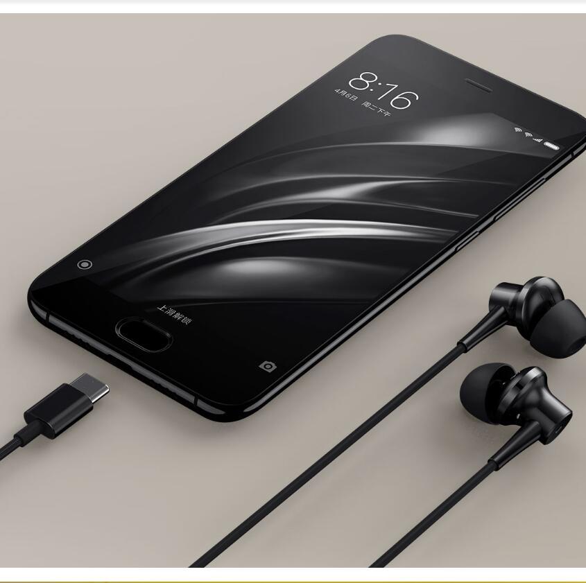 Original Xiaomi Mi ANC Earphones Hybrid USB Type-C Charging-Free Mic Line Control Music earphones for Xiaomi Mi6 MIX Note2 Mi5s mi 313 migix movement music купить дешево в китае