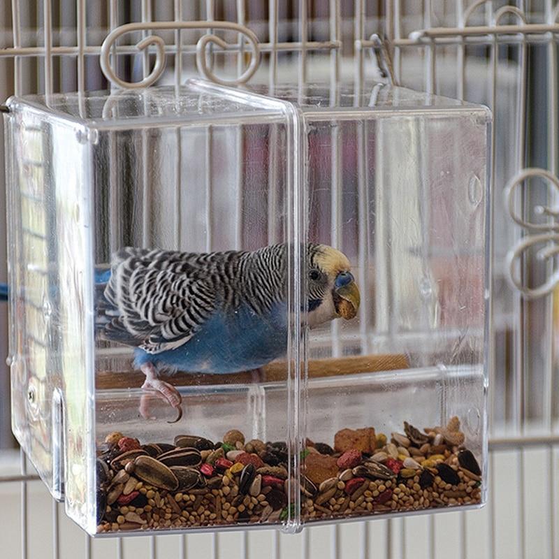 CAITEC попугай проливающаяся кормушка для птиц пищевая коробка еда для попугая контейнер устойчив к укусам подходит для маленьких птиц Маленький попугай