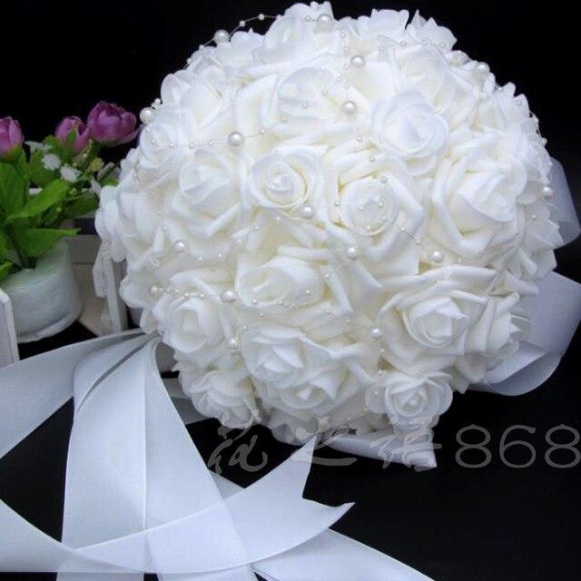 Đám Cưới lãng mạn Phù Dâu Tăng Ngọc Trai Nhân Tạo Hoa Bó Hoa Bridal Handmade Bó Hoa Cưới