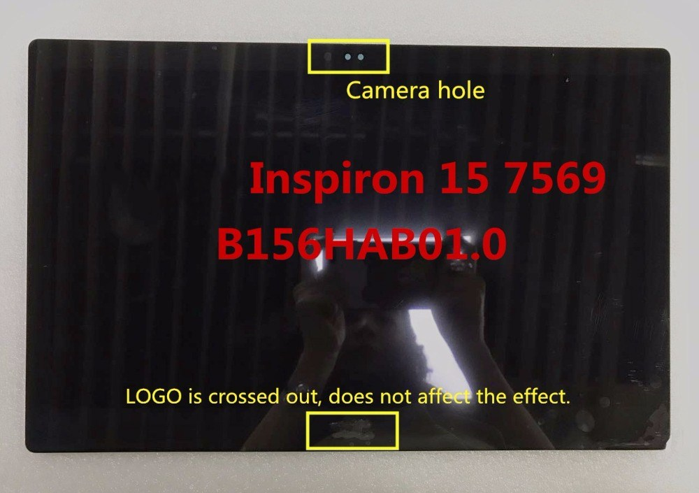 original LCD Screen Touch Digitizer assembly B156HAK01.0 for Inspiron 15 7569 FHD eDP 30pin 1920*1080