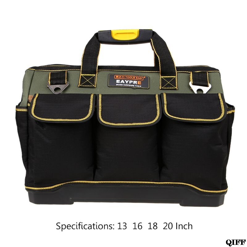 13 16 18 20'' Waterproof Heavy Duty Oxford Tool Bags Storage Organizer Pouch Case Large Capacity Electrician BagJun18