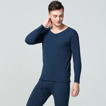 Winter Long Johns Men Thermal Underwear Sets Seamless Simple Solid Keep Warm For Man Male Clothing Sleep Wear 1 New L-XXL