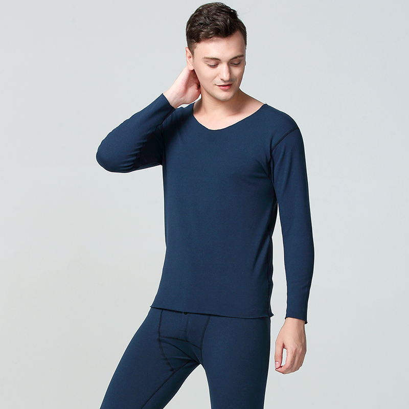 Winter Long Johns Men Thermal Underwear Sets Seamless Simple Solid Keep Warm For Man Male Clothing Sleep Wear 1 Sets New L XXL