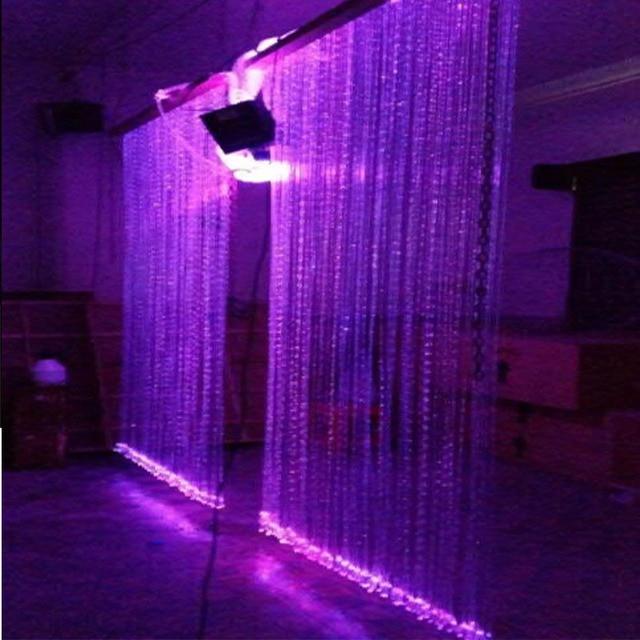 fabriek professionele diy led waterval glasvezel verlichting gordijn voor muur licht