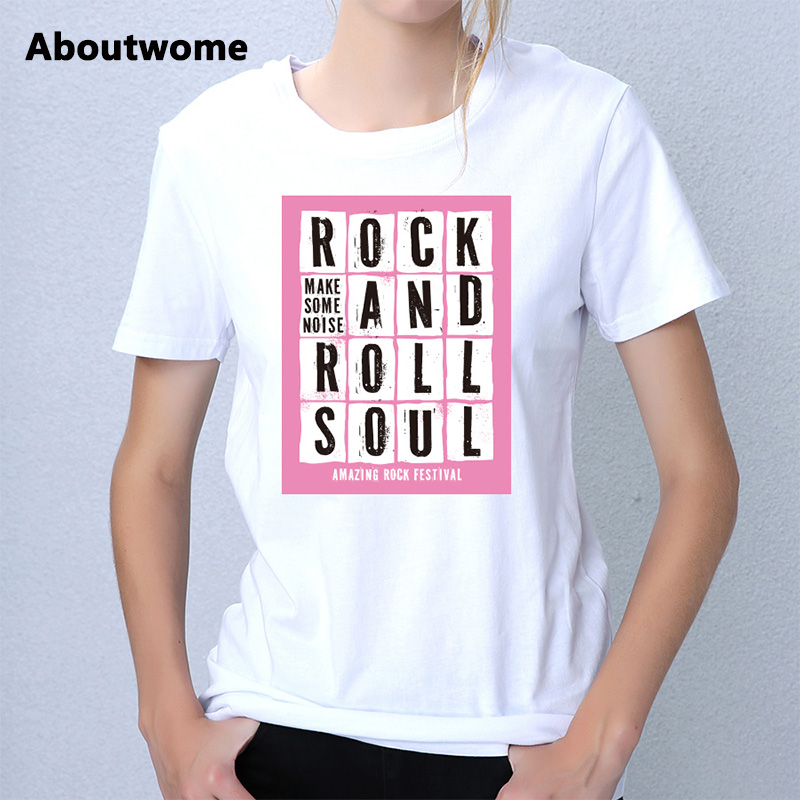 2017 Hipster t shirt women Passion DJ Music tops Rock Band Tee Hip Hop Youth tshirt Roll Soul tops European Size Cotton t-shirt