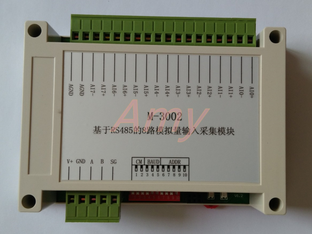 8 way voltage / current analog input collection module 0~10V 4~20ma sensor input communication card