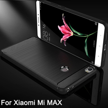Case Cover for Xiaomi Mi max Case Carbon Fibre Brushed TPU Phone Case for Xiaomi Max Mobile Phone bag Shell