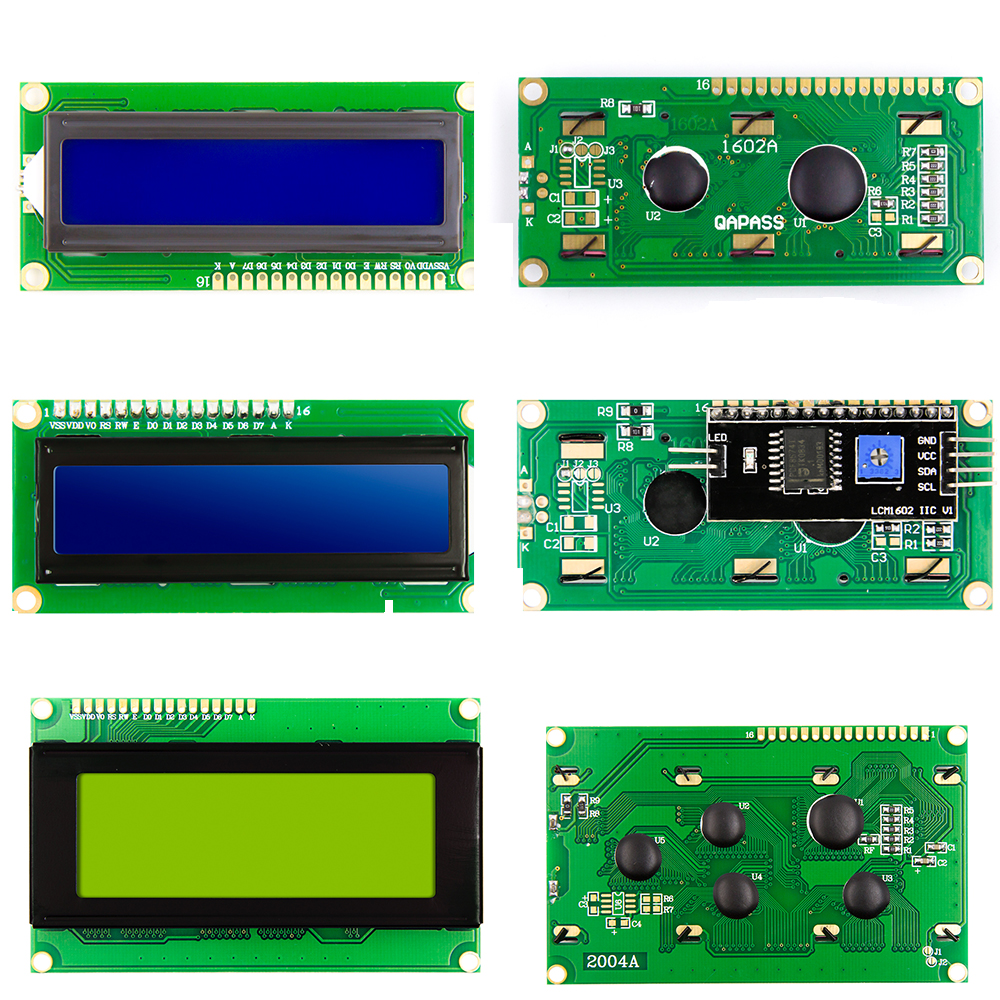 LCD1602 Blue Yellow Green Gray  Backlight IIC/I2C RGB Keypad Shield LCD2002 LCD2004 For Arduino Raspberry Pi