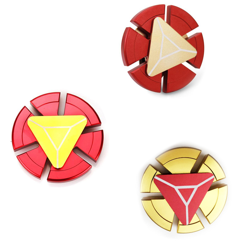 Fidget Spinner Iron Man Shiled Spinner Metal Hand Spinners The Avengers Toys Super Hero EDC Tri Figet Spiner Superman Finger Toy