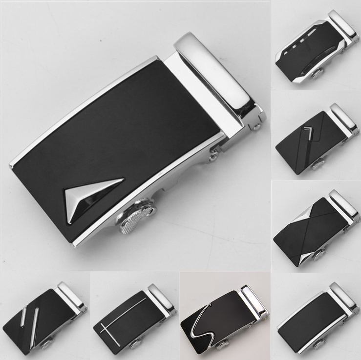 New Fashion Men's Business Alloy Automatic Buckle Fashion Luxury Belt Buckles For Men's Leather Waist Belt 3.5cm