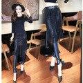 2017 spring warm lace sexy leggings for women fitness gothic punk rock skirt black leggings