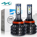 NAO H11 Car LED Headlights H8 H9 Fanless Design 3 Years Warranty 6500K White Bulbs 50W 6000 Lumens Set Plug and Play #V5