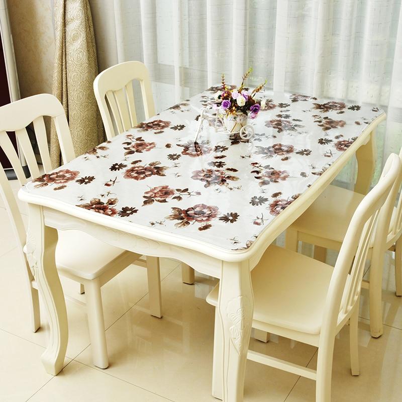 Waterproof Tablecloths Pvc Plastic No Clean Table Cloth