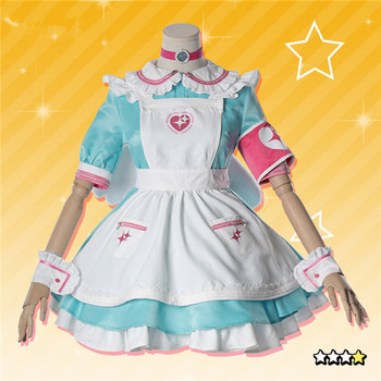 Game THE IDOLM@STER Custom Made Cosplay Costume Nurse maid outfit Lovely Dress full sets