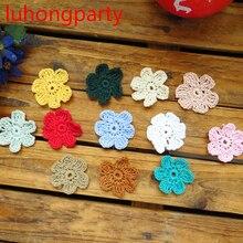 ZAKKA Handmade 4cm Round flower Lace Doilies Crochet Coaster Table Place mats cup mat 20pcs/Lot