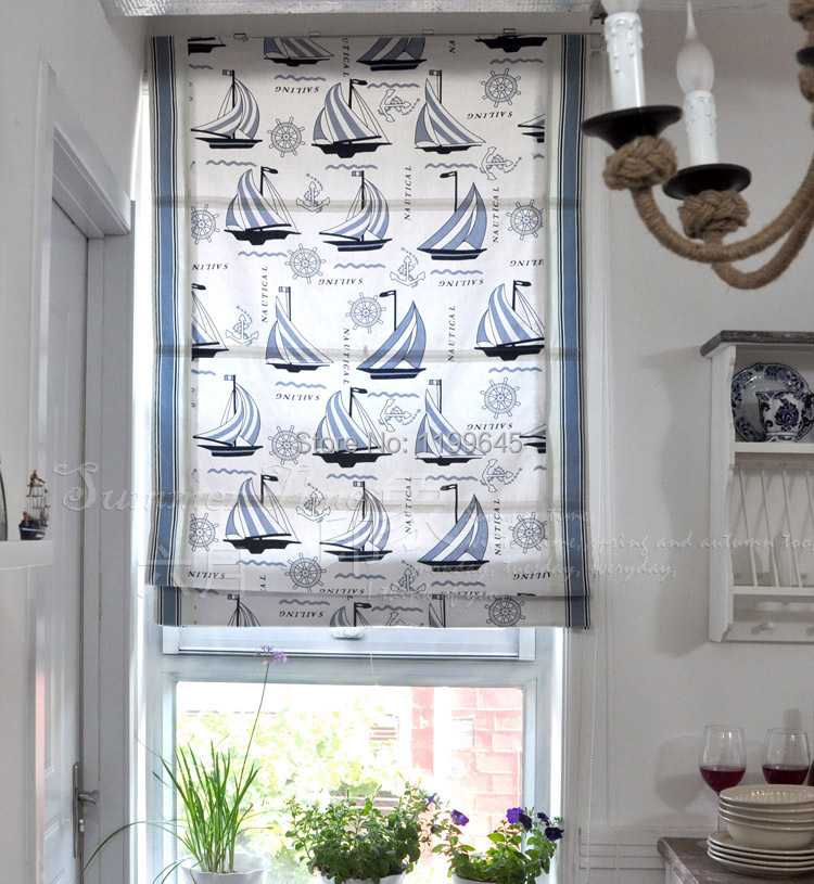 2015 Included Curtains New Arrival Thickening Boat Roman Shutter Double  Layer Shade Blinds The Finished Curtain