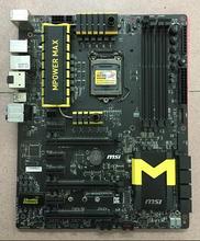 Free shipping for MSI Z97 MPOWER MAX AC motherboard Sata Express Killer NGFF M.2 7 PCI-E LGA 1150 DDR3 Mining the main board