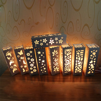 Minimalist Bedroom Bedside Table Decoration E27 LED Desk Lamp High Quality Ivory White Stars Table Lamp
