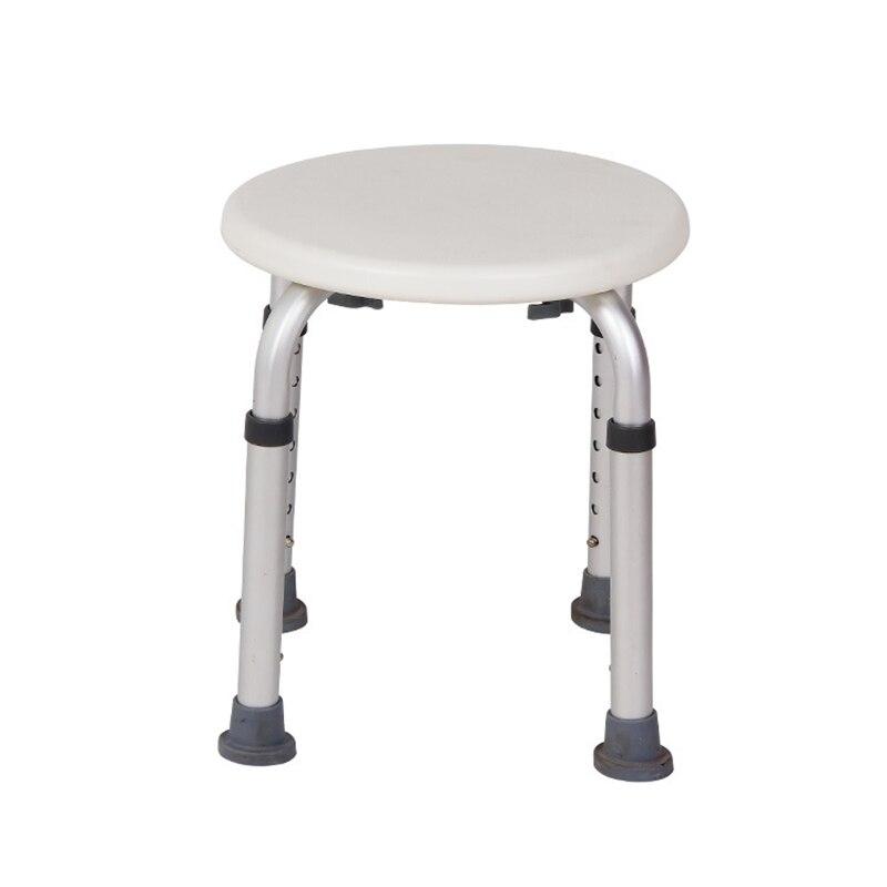 Toilet Stool Anti Slip Bathroom Chairs Adjustable Safety Aluminum Elderly Pregnant Women Kids Shower Seat Medical
