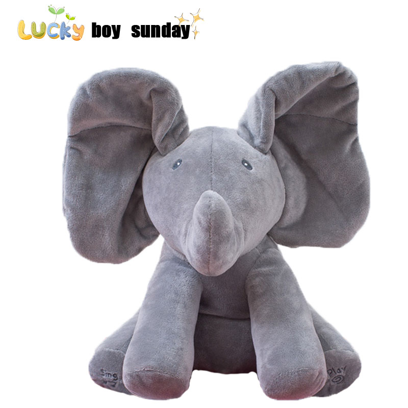 boo Plush Toy Elephant Baby Kids Soft Doll For Children