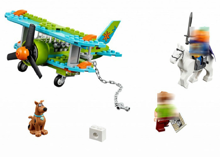 Bela 75901 Scooby Doo Mummy Museum Mysterious Plane Model Building Block set Brick Toys compatible with kids gift 10429