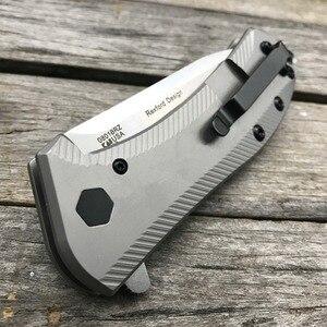Image 5 - LDT 0801 Folding Knife M390 Blade Titanium TC4 Handle Tactical Knives Camping Hunting Ball Bearing Survival Knife EDC Tools
