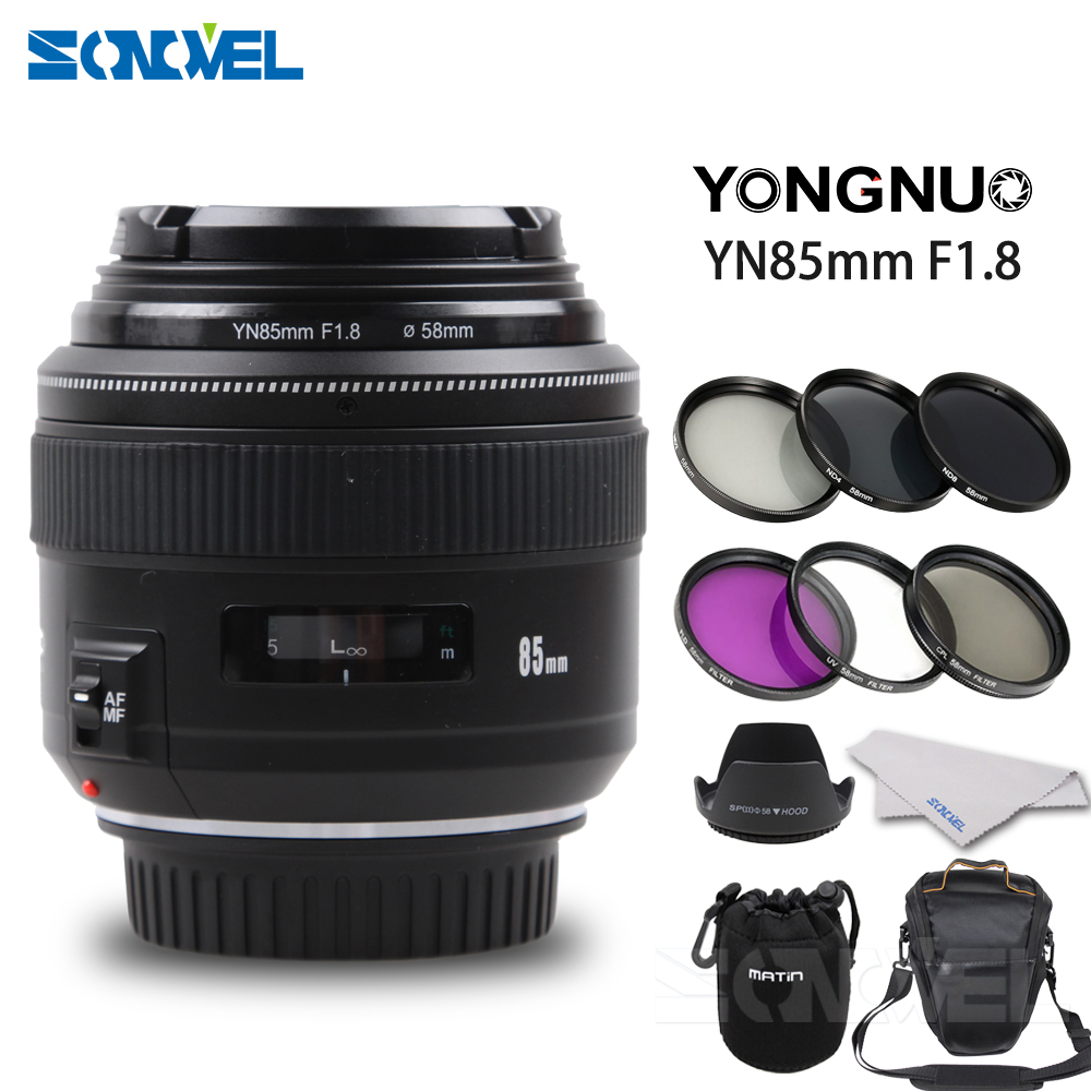 YONGNUO YN85mm f1.8 AF/MF Standard Medium Telephoto Prime Lens Fixed Focal Camera Lens for Canon EF Mount EOS Cameras yongnuo yn100mm f2 af mf medium telephoto prime lens fixed focal for canon eos rebel camera ef mounting port 600d 60d 80d 6d5d3