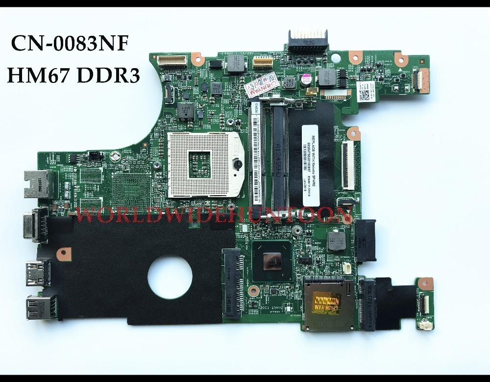 High Quality 083NF 0083NF CN-0083NF For Dell Insprion N4050 Laptop Motherboard PGA989 HM67 Integrated DDR3 100% Fully Tested high quality pfm 865g ver c p4 long card industrial motherboard 100% tested perfect quality
