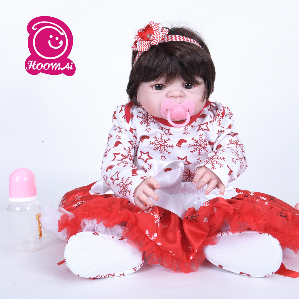 55cm Silicone Reborn Baby Doll Toys Like Real Princess Toddler Babies Dolls Girls Bonecas Birthday Gift Present Play House55cm Silicone Reborn Baby Doll Toys Like Real Princess Toddler Babies Dolls Girls Bonecas Birthday Gift Present Play House