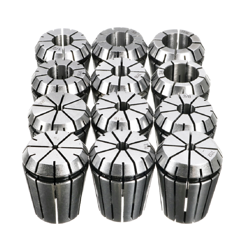 New 12pcs SET Precision Imperial ER32 Collet 1 8 to 3 4 CNC Milling Lathe Dropshiping