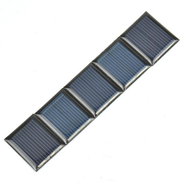 Aoshike 10Pcs Mini Solar Panels 1V 80mA 30*25MM Solar Cells For DIY Scientific Experiment