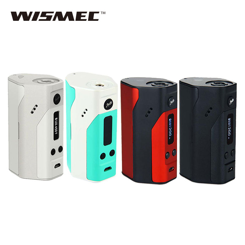 Original WISMEC Reuleaux RX200 Mod TC/VW Mode 200W rx 200 Box Mod with OLED Screen Electronic Cigarette Temp Control Mod laete l02 142
