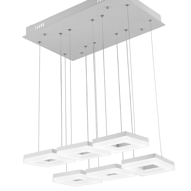 Us 238 99 70w Contemporary Led Square Pendant Lamp Italian Design Suspension Light Modern Indoor Home Lighting Hanging In