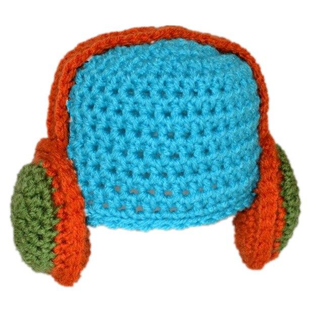 386363847 US $9.99 |Novelty Character Hat,Handmade Knit Crochet Baby Boy Girl Green  Blue Headphone Hat,Kids Fun Cap,Infant Toddler Photo Props-in Hats & Caps  ...