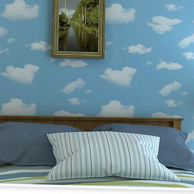 bande dessine papier peint pour chambre denfant bleu ciel blanc nuages enfants chambre plafond fond 3d vinyle murale papier peint revtement mural
