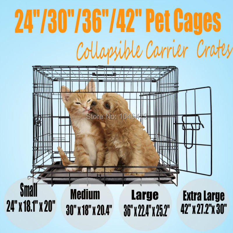 Ship from Germany! 24 inch Pet Dog Cat Crate Cage Puppy Carrier Training Cage Jaulas para perros Gabbie di gatto