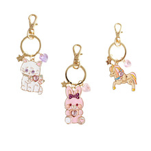 SANSUMMER New Style Fashionable Alloy Drops Lovely Animals Cats Rabbits Trojan Horses Keychains Romantic Accessories 5892