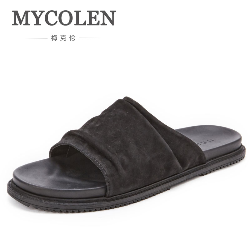 MYCOLEN Men Slippers Casual Black Shoes Non-Slip Slides Bathroom High Quality Summer Sandals Soft Sole Flip Flops Man тепловентилятор electrolux efh w 1020