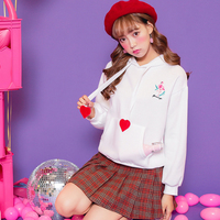 Women Korea Fashion Pullover Female Sweet Jumper Adorable Flamingo Preppy Style Soft Sister Casual Hoodies Autumn