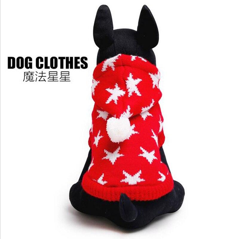 Recién Llegado de Mascotas Ropa Para Perros de Navidad Estrella de Perro Suétere