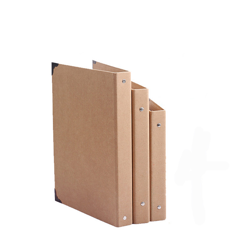 A4 B5 A5 Folder Hole Rings Kraft Folder  Kraft Notebook Cover  Send A Gift