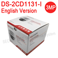 Versão inglês DS-2CD1131-I substituir DS-2CD2135F-IS DS-2CD2132F-IS 3MP Rede mini Câmera dome cctv ip PoE IK10 IP67 H.264 +
