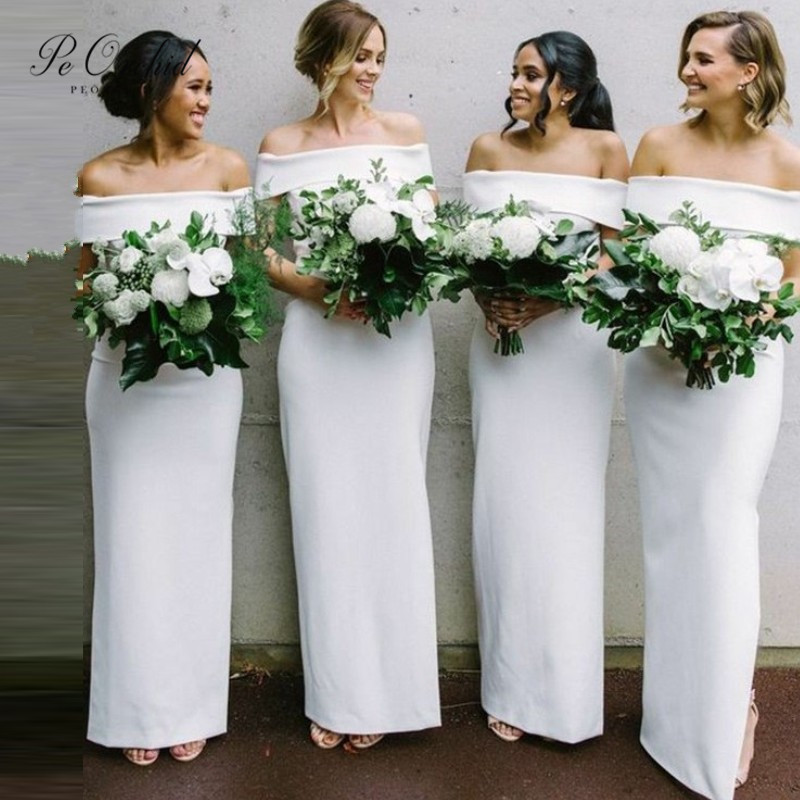 PEORCHID Woman Maid Of Honor Dresses For Weddings Formal