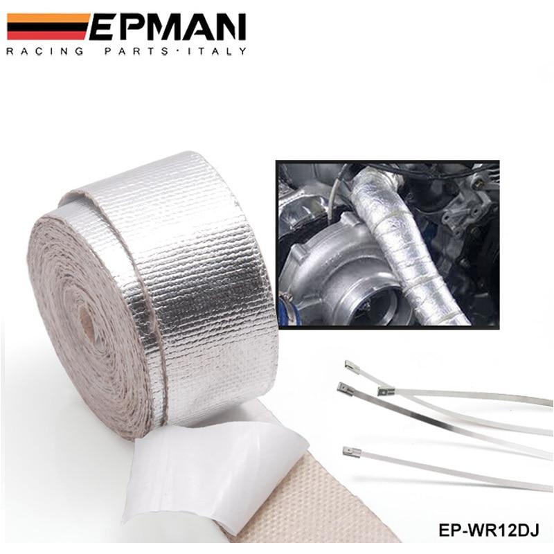 Coche de aluminio reforzado Cintas adhesivas calor envoltura resistente para todos tubo de admisión para BMW E30 M20 325 ep-wr12dj