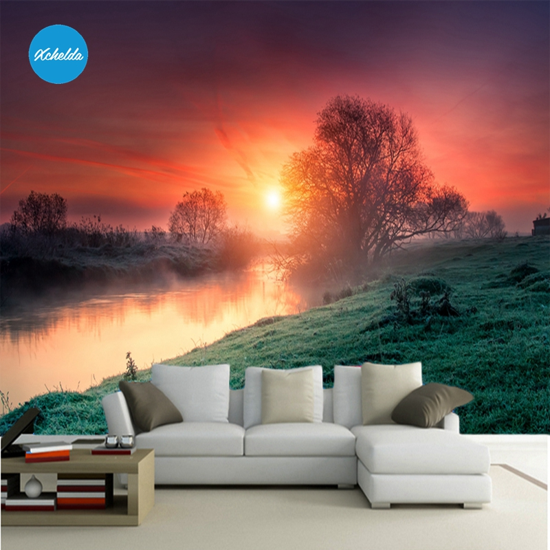 XCHELDA Custom 3D Wallpaper Design Twilight Photo Kitchen Bedroom Living Room Wall Murals Papel De Parede Para Quarto kalameng custom 3d wallpaper design street flower photo kitchen bedroom living room wall murals papel de parede para quarto